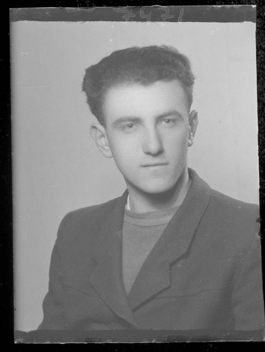 Studio portrait of an unidentified man.