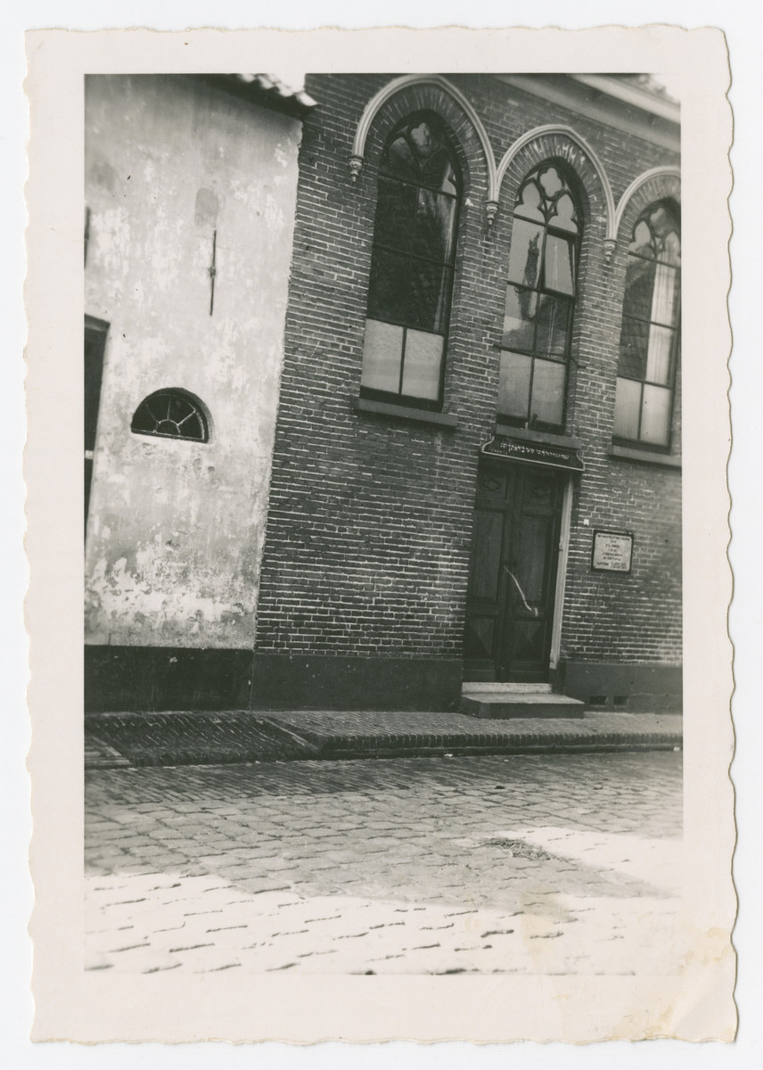 Exterior view of the old Amsterdam synagogue.