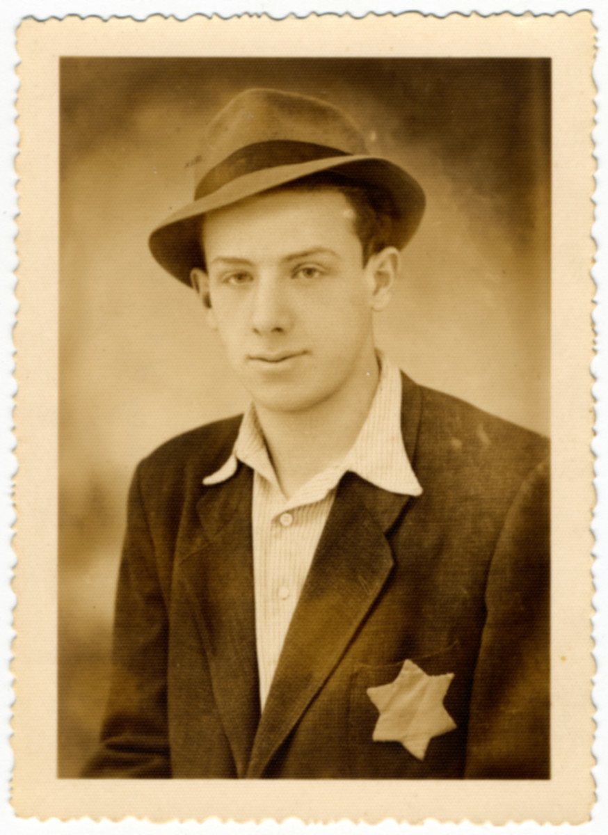 Studio portrait of the donor Moshe Stern taken in Budapest 1944 prior to his starting forced labor.
