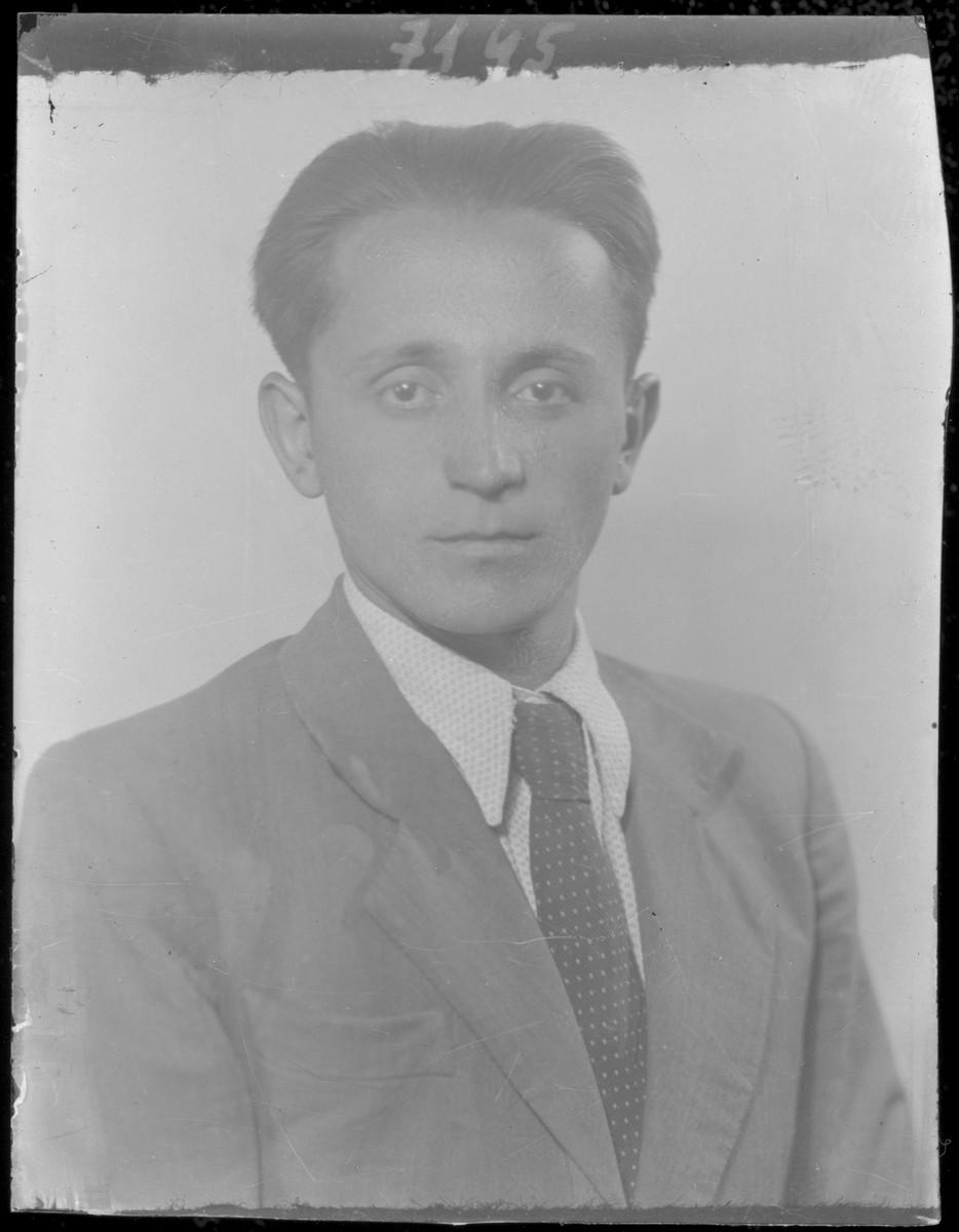 Studio portrait of Jakab Rene.
