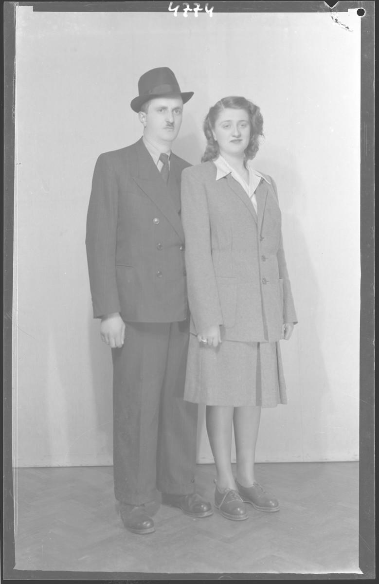 Studio portrait of Jene Rub and his [wife].
