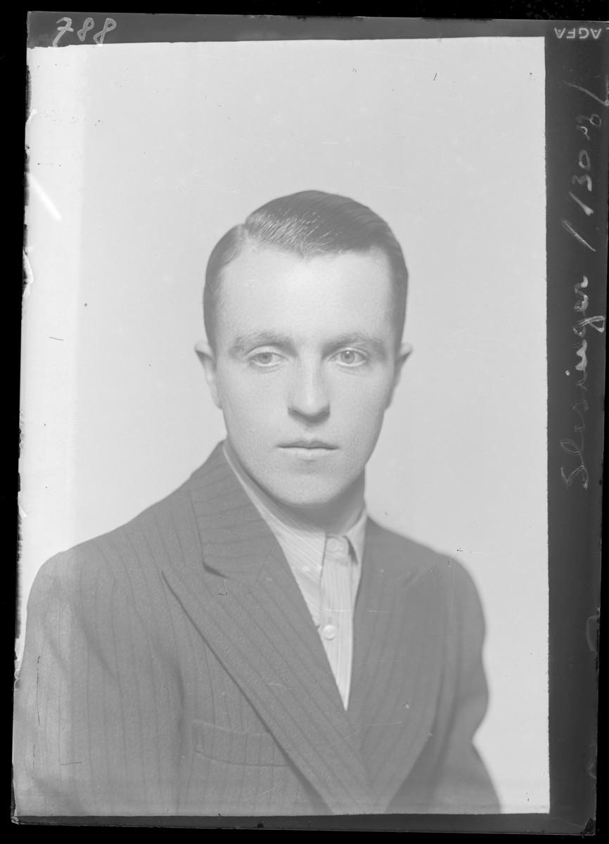 Studio portrait of Sandor Schlesinger.