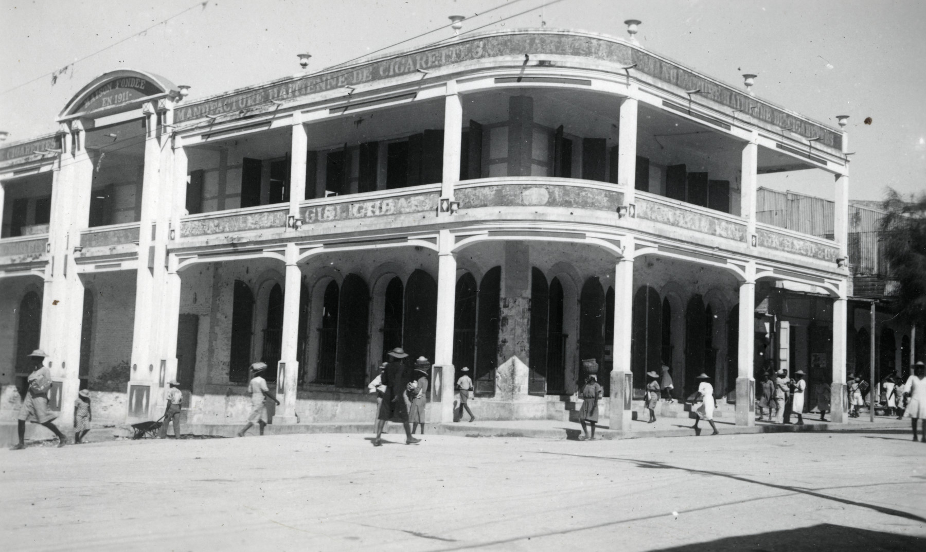 Exterior view of the Maison Pantal, the business belonging to Walter Meinberg and his brothers in Haiti.