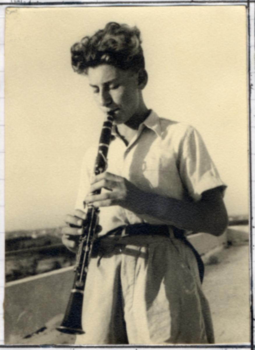 Daniel Barnea plays the clarinet in Kibbutz Givat Brenner.