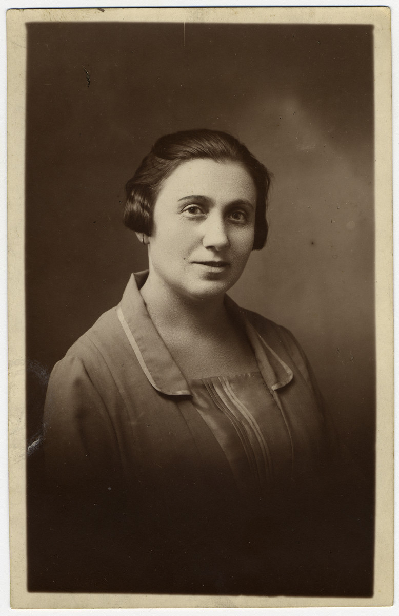 Studio portrait of Shayne (nee Revinsky) Michalowski.  She immigrated with her son to Mexico.