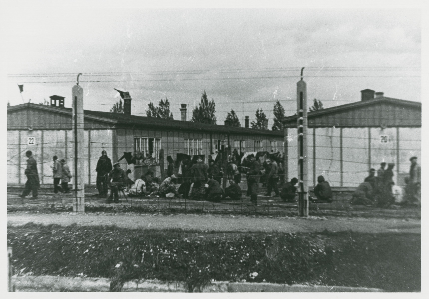 Survivors in Dachau after liberation.