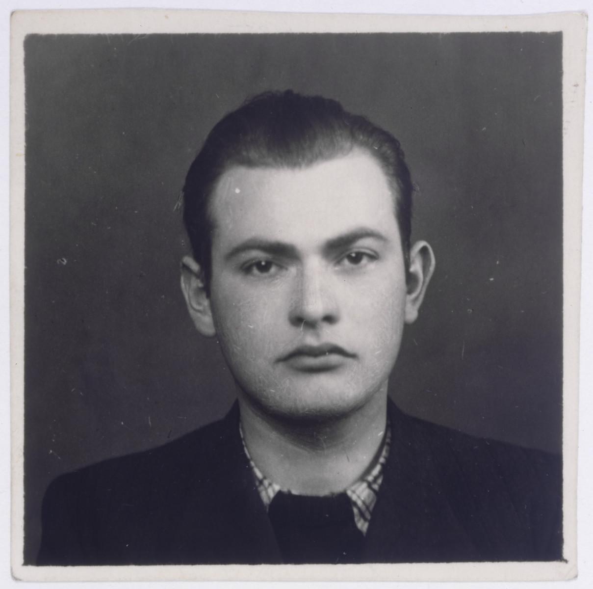 Studio portrait of Juliusz Kleiner, a friend of the donor.
