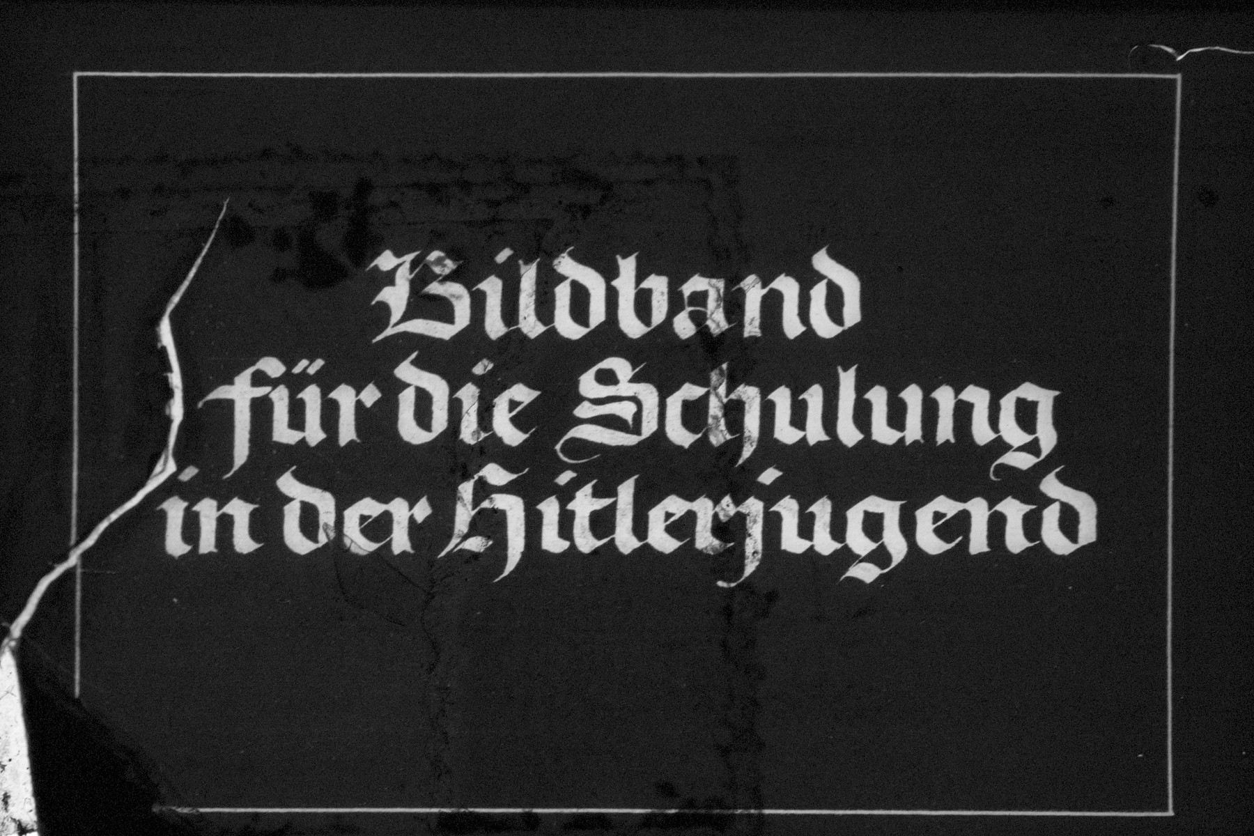 "2nd Nazi propaganda slide for a Hitler Youth educational presentation entitled ""5000 years of German Culture.""  Bildband für die Schulung in der Hitlerjugend // Book for training in the Hitler Youth"