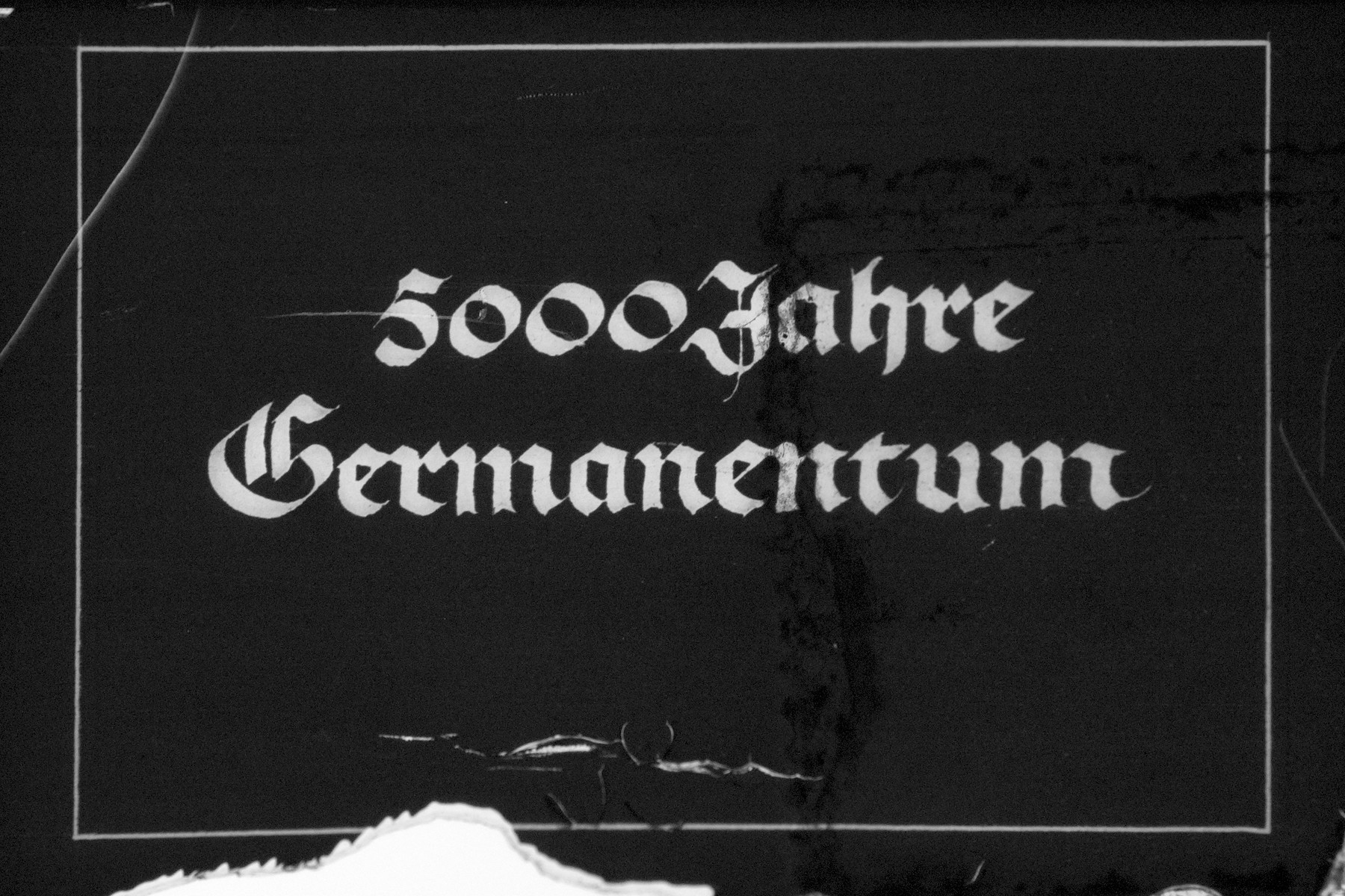 "Nazi propaganda slide for a Hitler Youth educational presentation entitled ""5000 years of German Culture."""