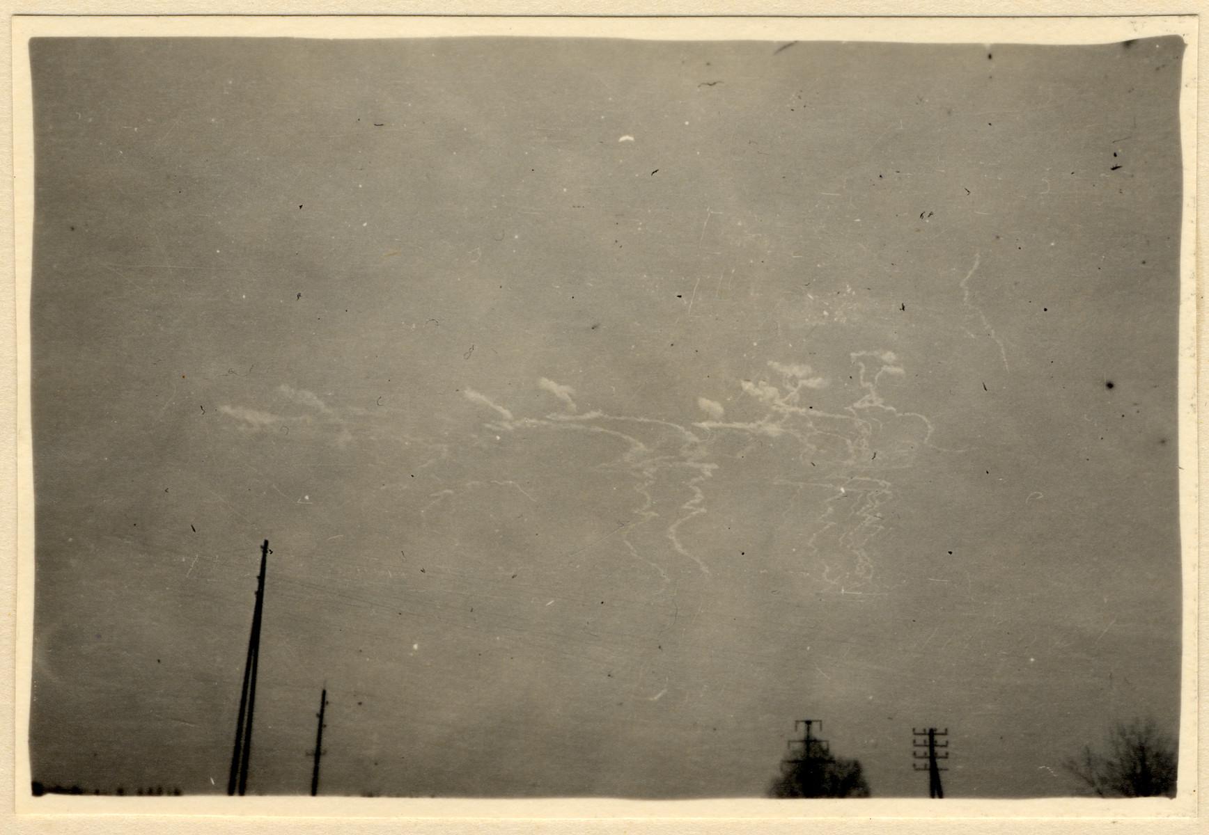 View of an Allied aerial raid over Munich.