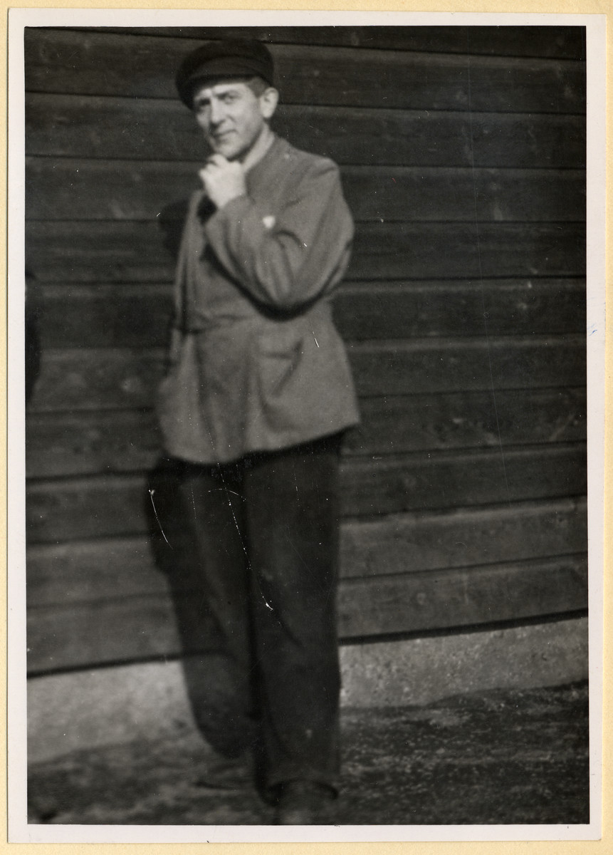 Portrait of a Czech political prisoner in the Dachau concentration camp.