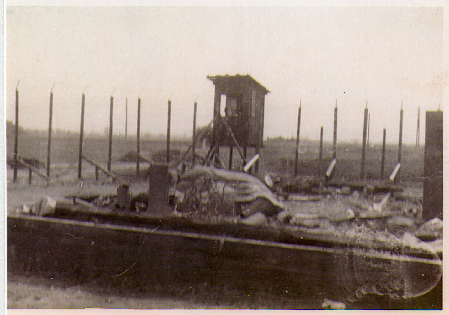 View of the Hanover-Ahlem concentration camp after liberation.