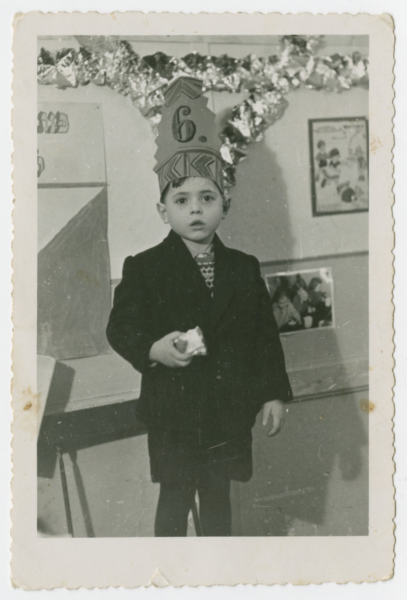 Joseph Fridling celebrates his sixth birthday in the Schlachtensee displaced persons camp.