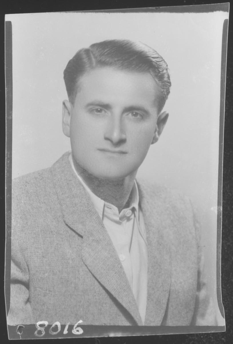 Studio portrait of Marton Vigdorovits.