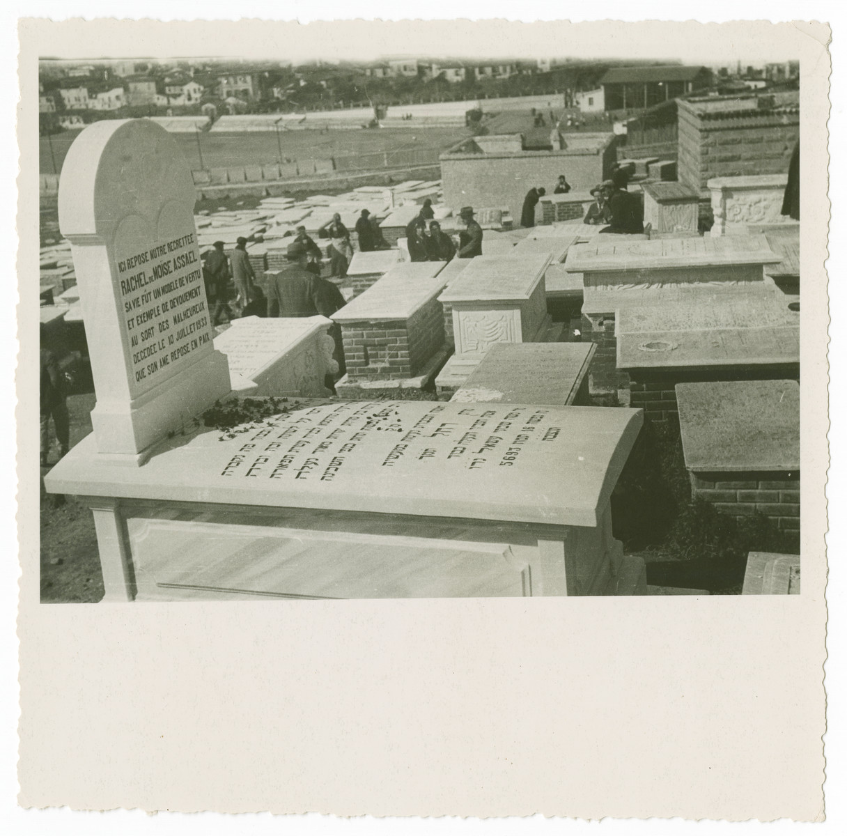 View of the Jewish cemetery in Salonika before the war.