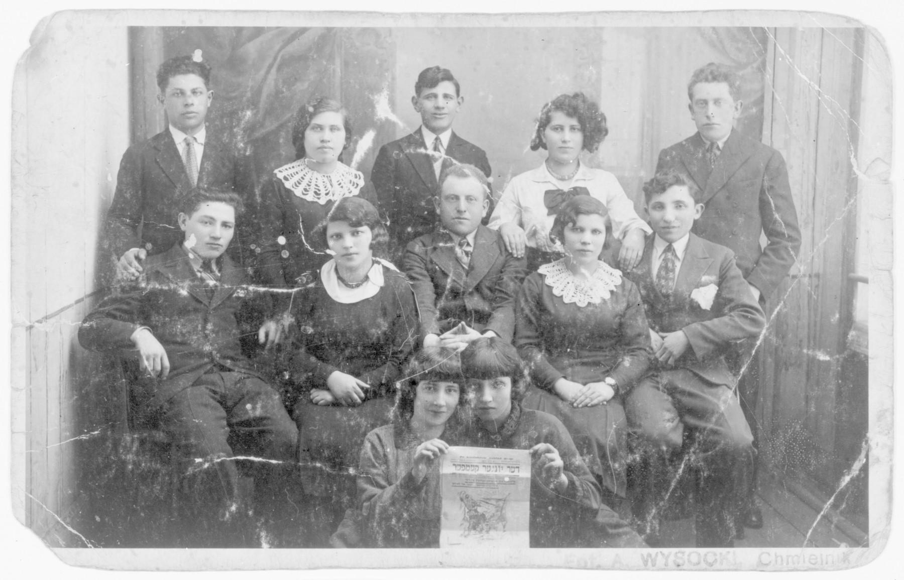 Members of the Bundist youth movement in Chmielnik.
