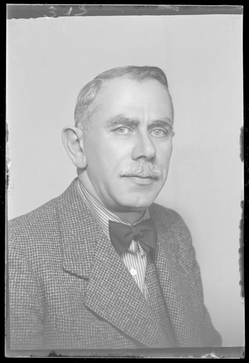 Studio portrait of Mandel.