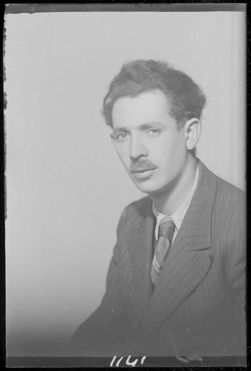 Studio portrait of Bernat Lebi.