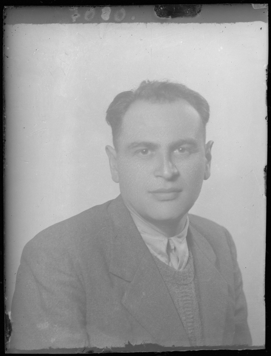 Studio portrait of an unidentified man.
