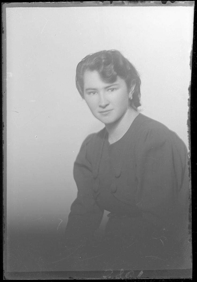 Studio portrait of Miklosne Krampner.