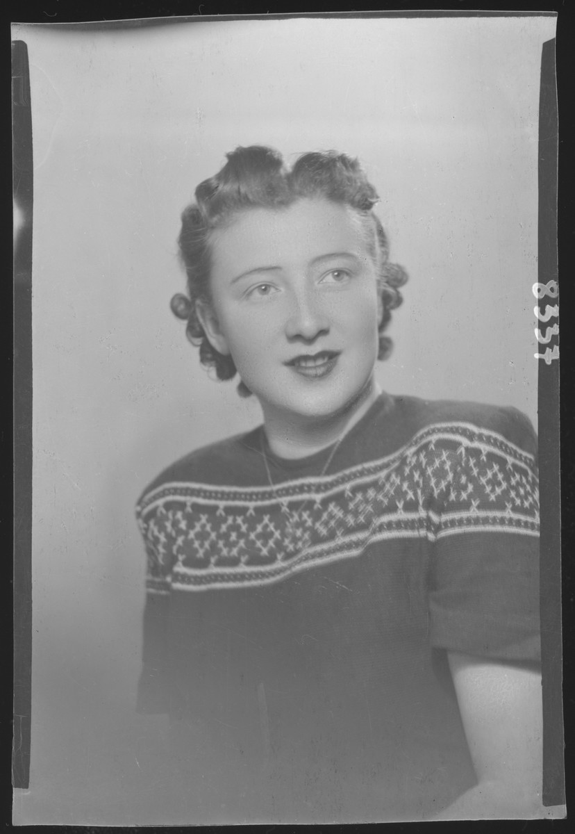Studio portrait of an unidentified woman.
