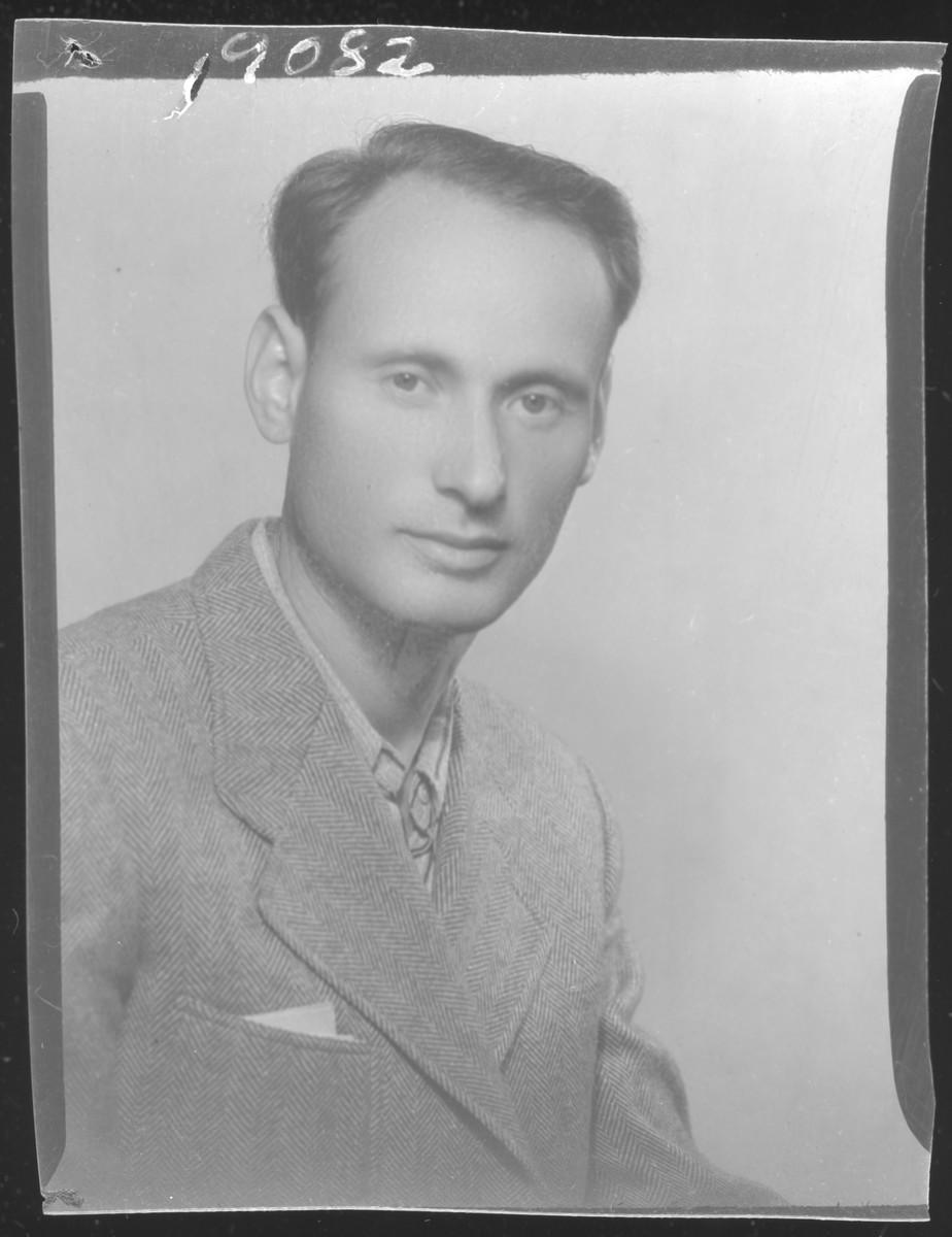 Studio portrait of Laszlo Lovi.