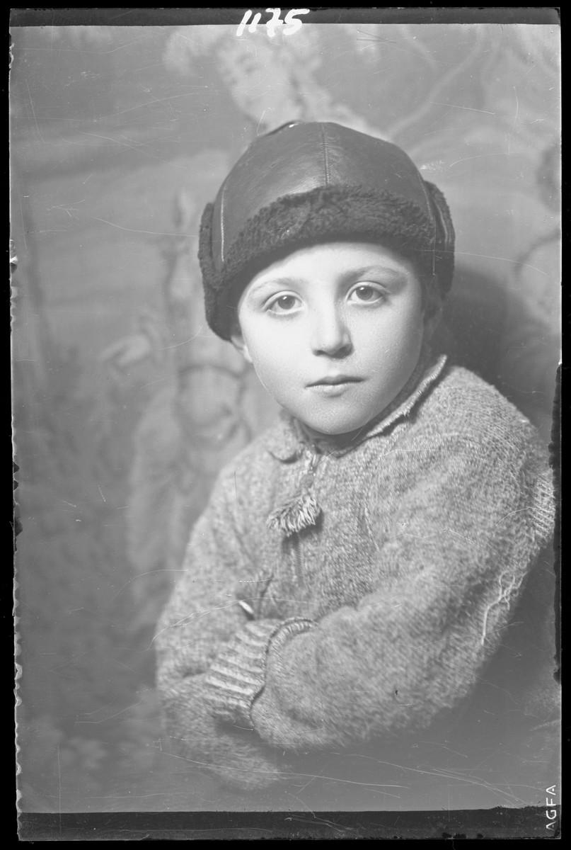 Studio portrait of the child, Herman Markovits.