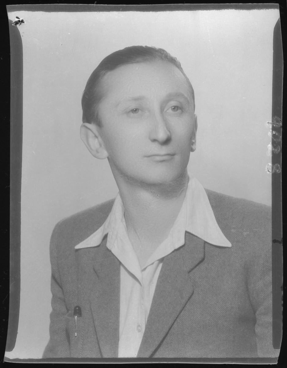 Studio portrait of Pal Lev.