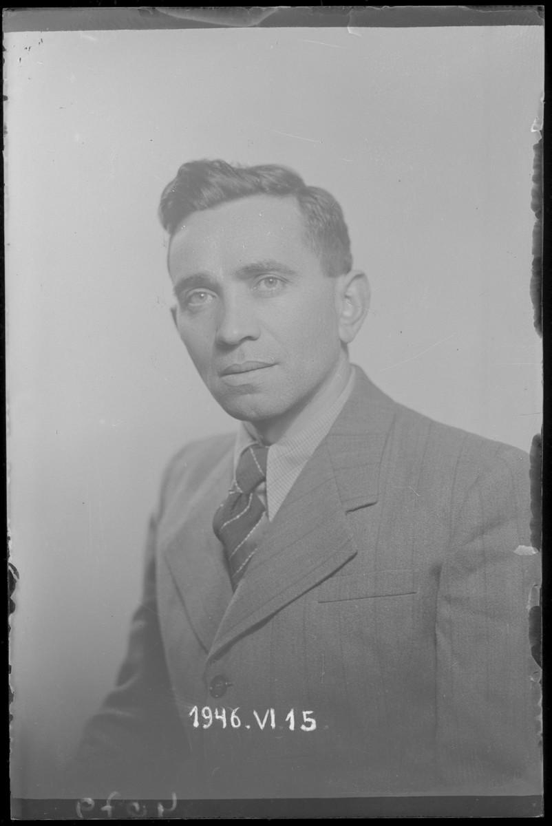Studio portrait of Samuel Klein.