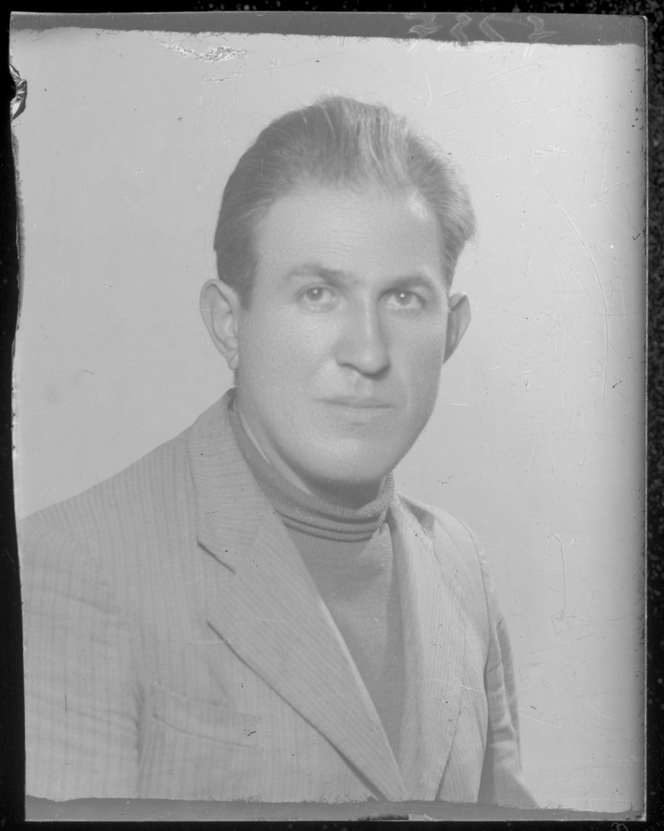 Studio portrait of Herman Markovits.