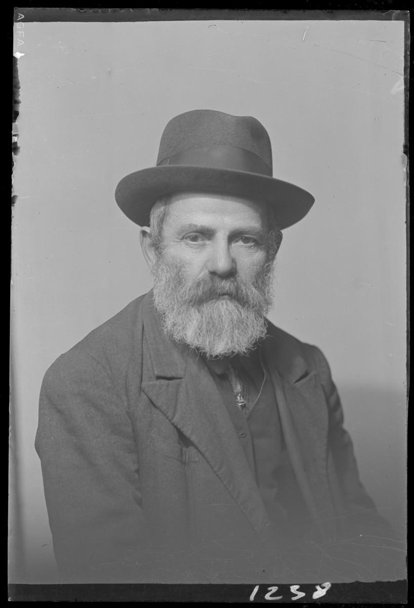 Studio portrait of Adolf Laksz.