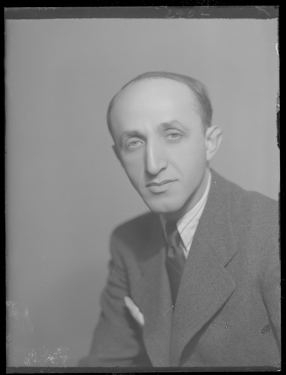 Studio portrait of Lebi Jakob.  He survived the Holocaust.