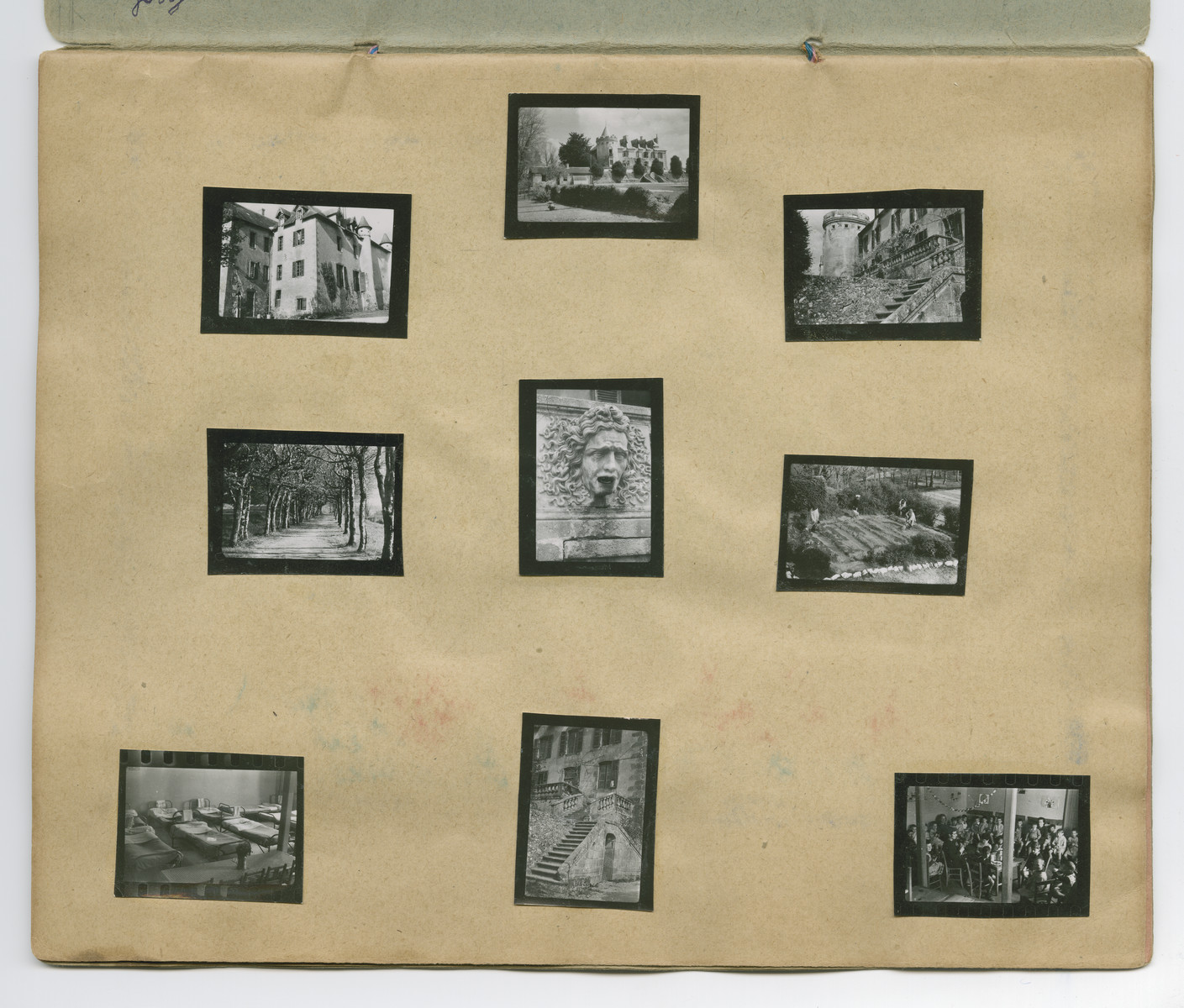 Photographs of Chateau-le-Masgelier from a souvenir scrapbook presented to Boris Wolosoff prior to his emigration from France.