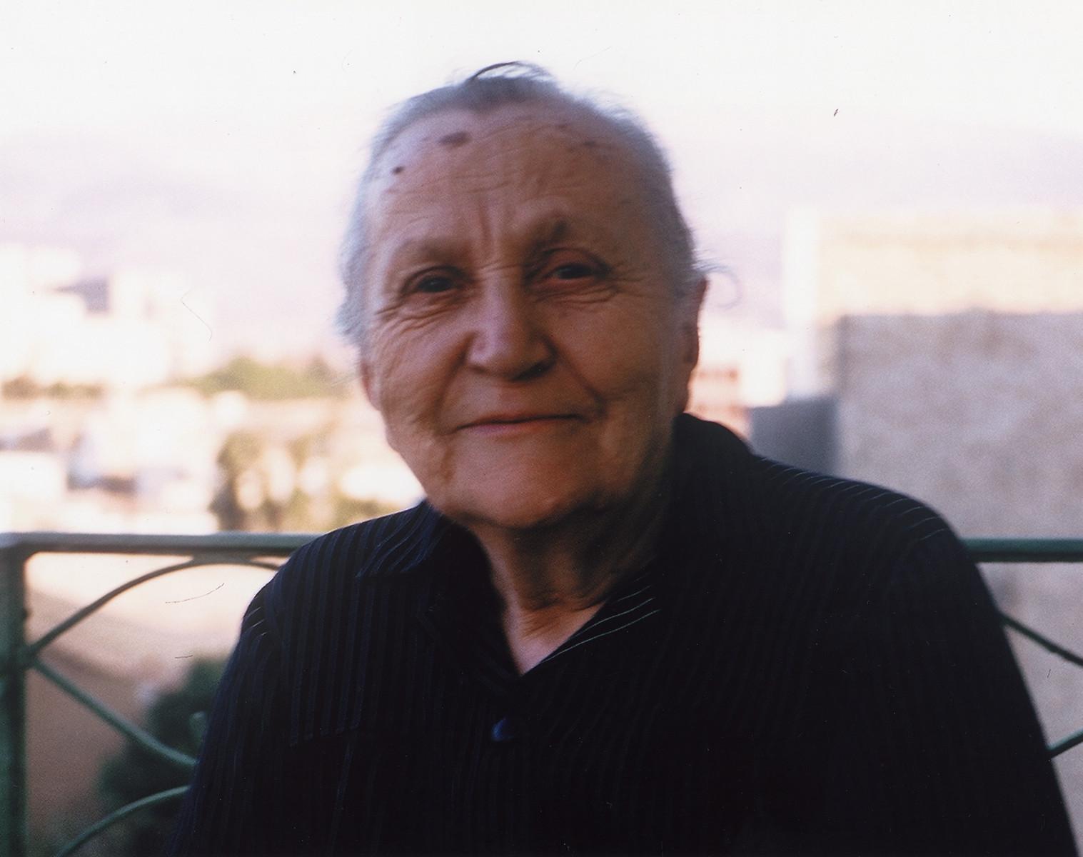 Portrait of Greek midwife, resister and rescuer, Erini Kyoreou Varanga Kanelopoulou.
