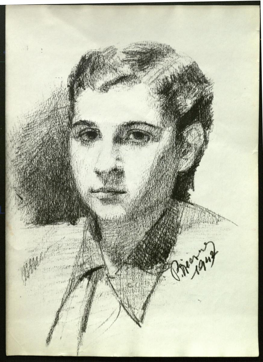 Self-portrait of Paul Vjecsner.