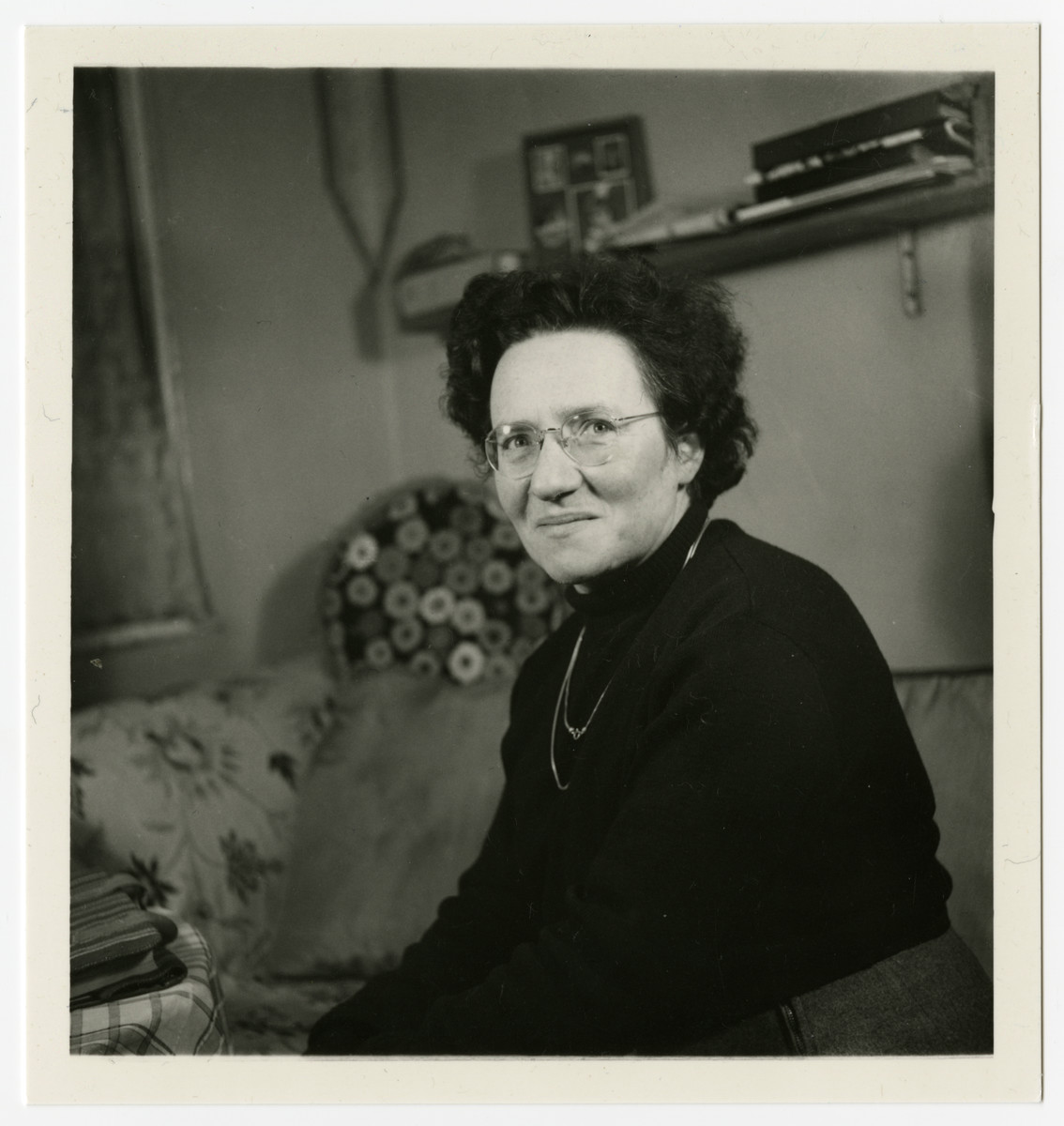Portrait of Alice Goldberger, the director of the Weir Courtney children's home.