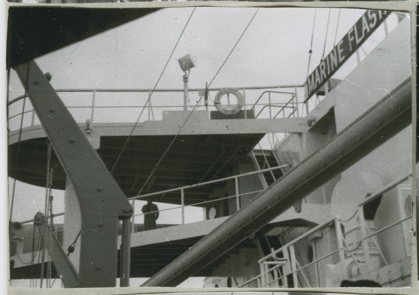 View of the decks of the Marine Flasher.
