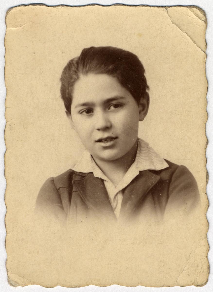 Studio portrait of Albert Abraham Sephiha at age 9.