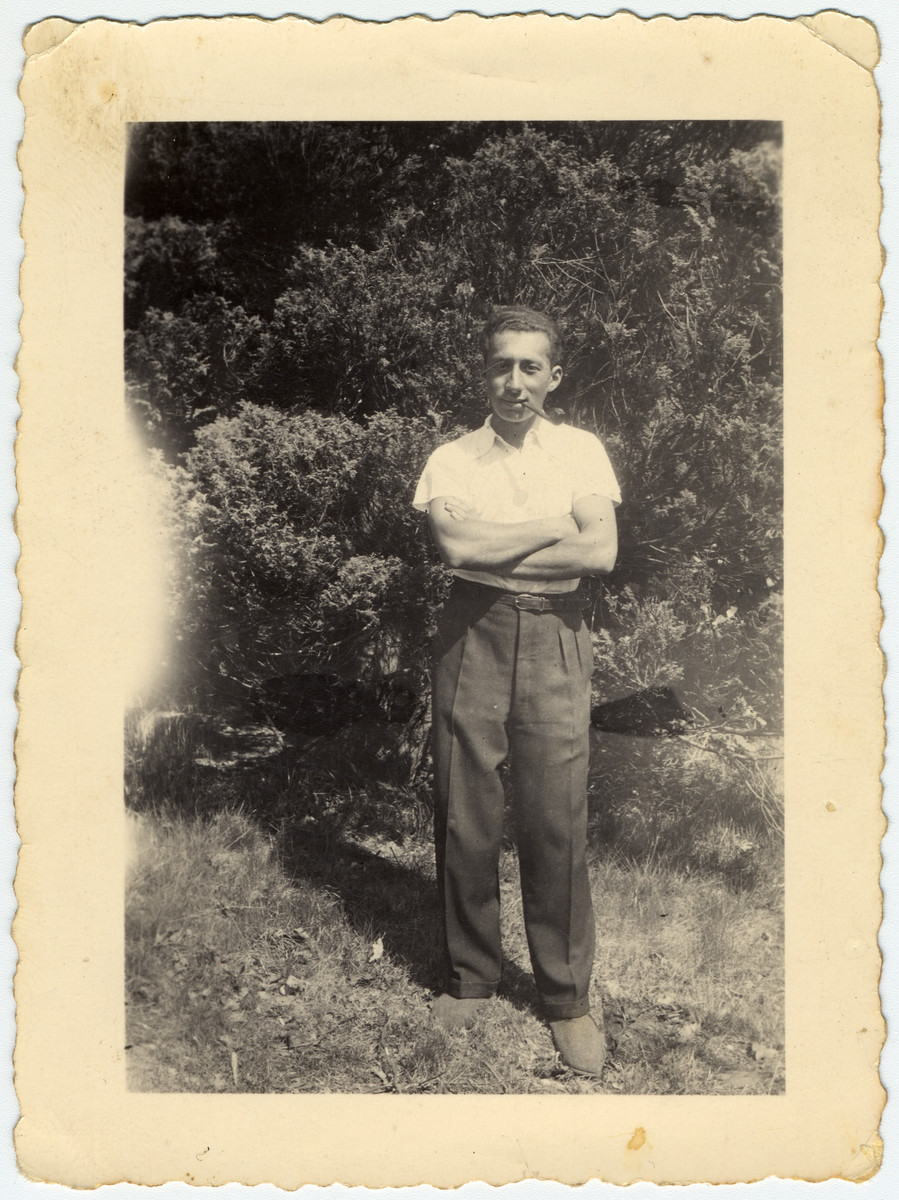 Portrait of Daniel Sieguy, a German Jew who fled to Belgium, befriended the donor in the La Ramee agricultural school and then moved to Israel after the war.