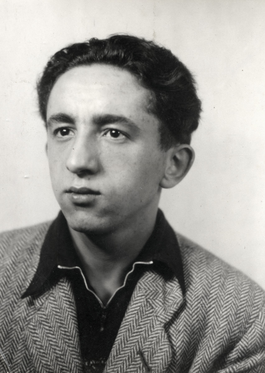Studio portrait of [Zubernish -- handwritng hard to read], one of the Buchenwald Boys.