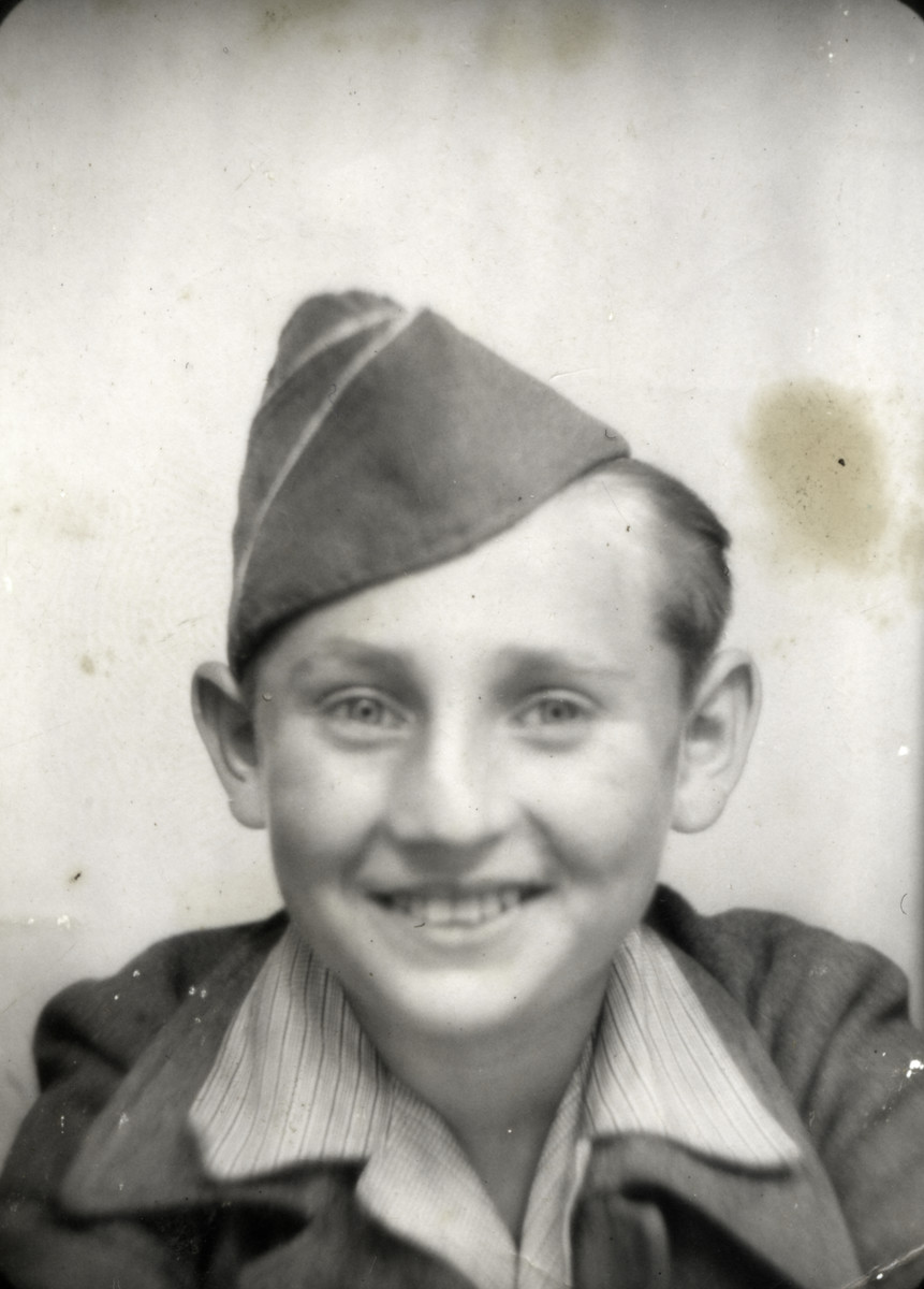 Portrait of Jacques Finkel (earlier Finkelstein), one of the Buchenwald Boys.