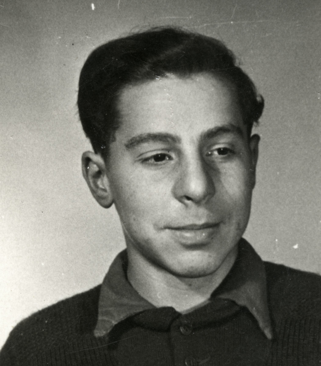 Studio portrait of Willy, one of the Buchenwald Boys.