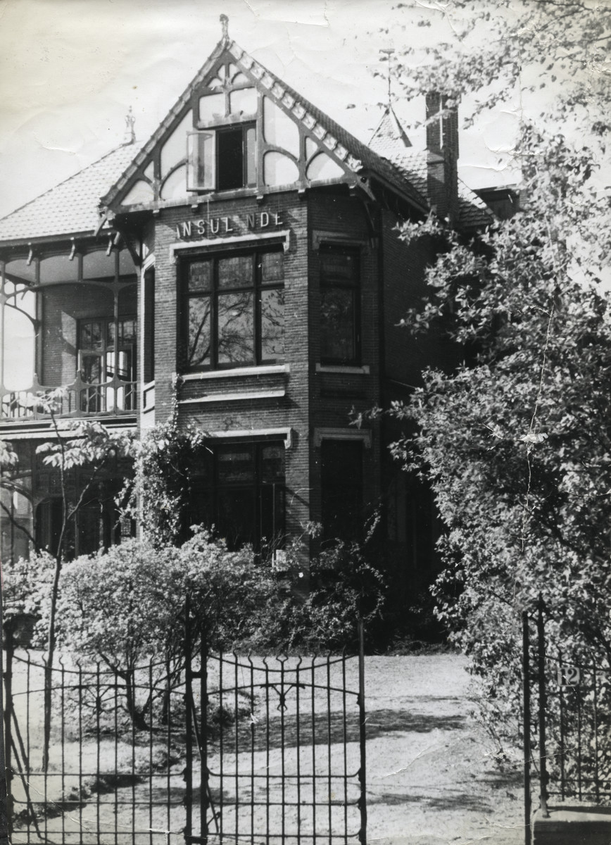 Exterior view of the house that Birnbaums used after the war for their children's home.