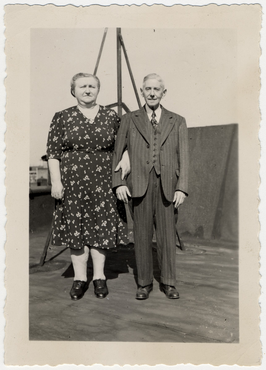 Portrait of Rozinka and Siegfried Loewy, Austrian Jews who immigrated to the United States.