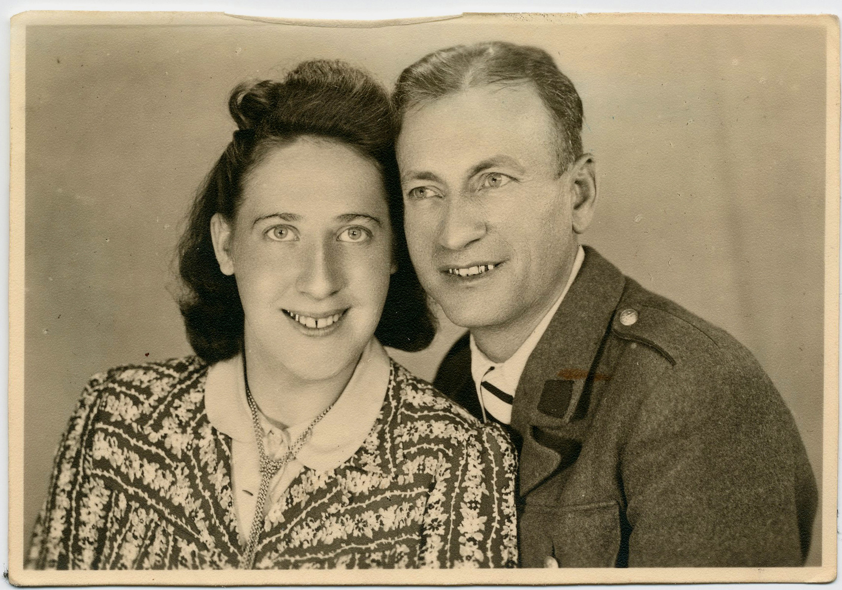 Wedding portrait of Helen Sztelman and Wolf Laudon.