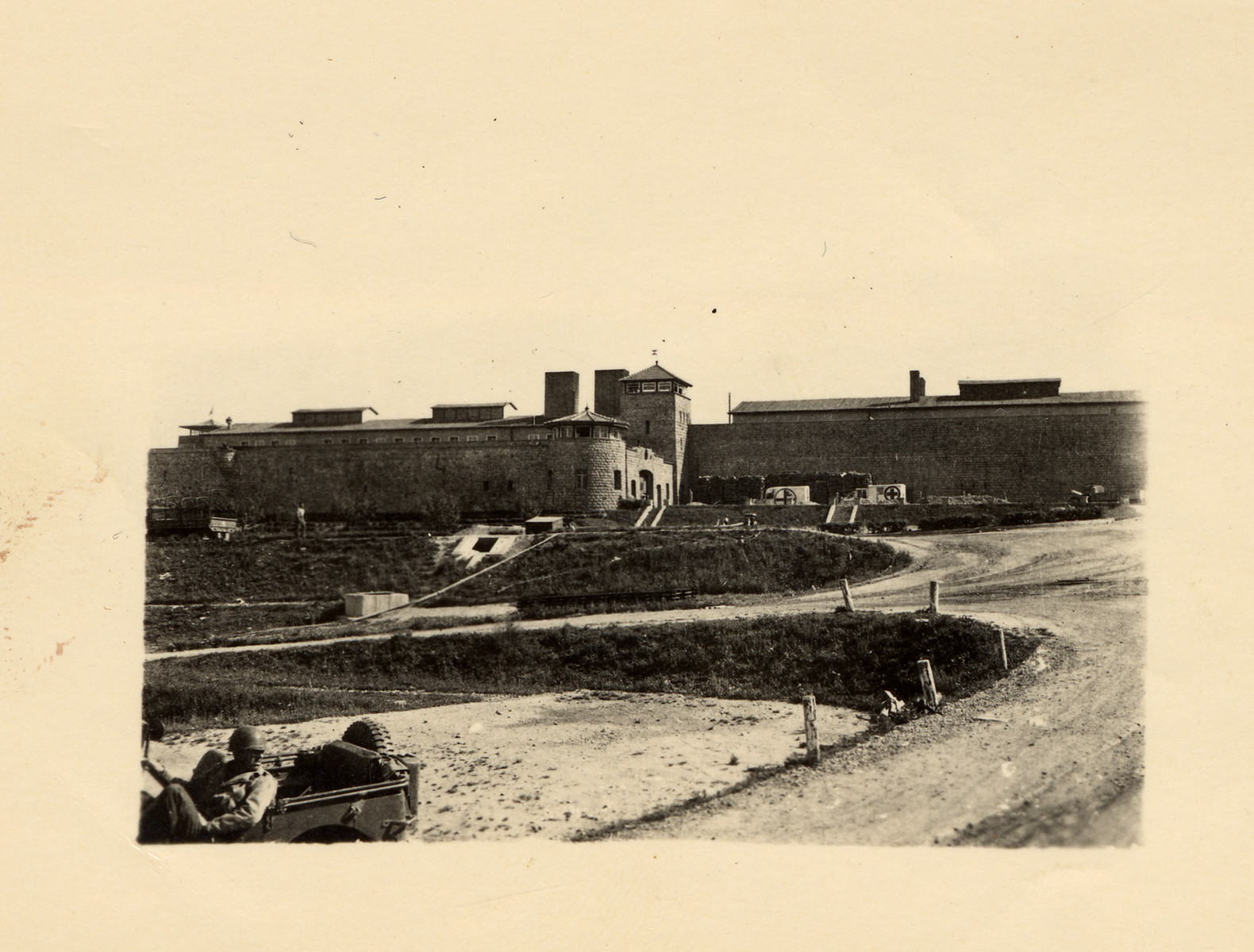 Exterior view of the Mauthausen concentration camp.