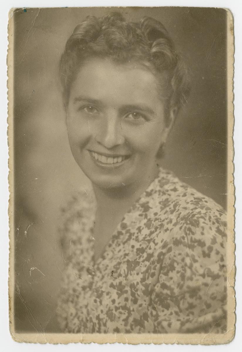 Studio portrait of Polish rescuer Celina Markowska.