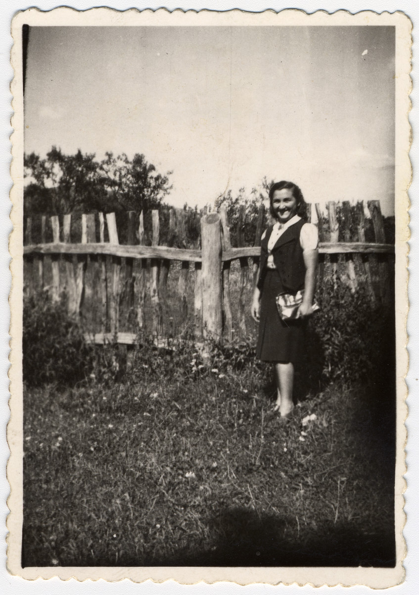 Helen Herkovic poses in the garden of her house the day before the start of World War II.