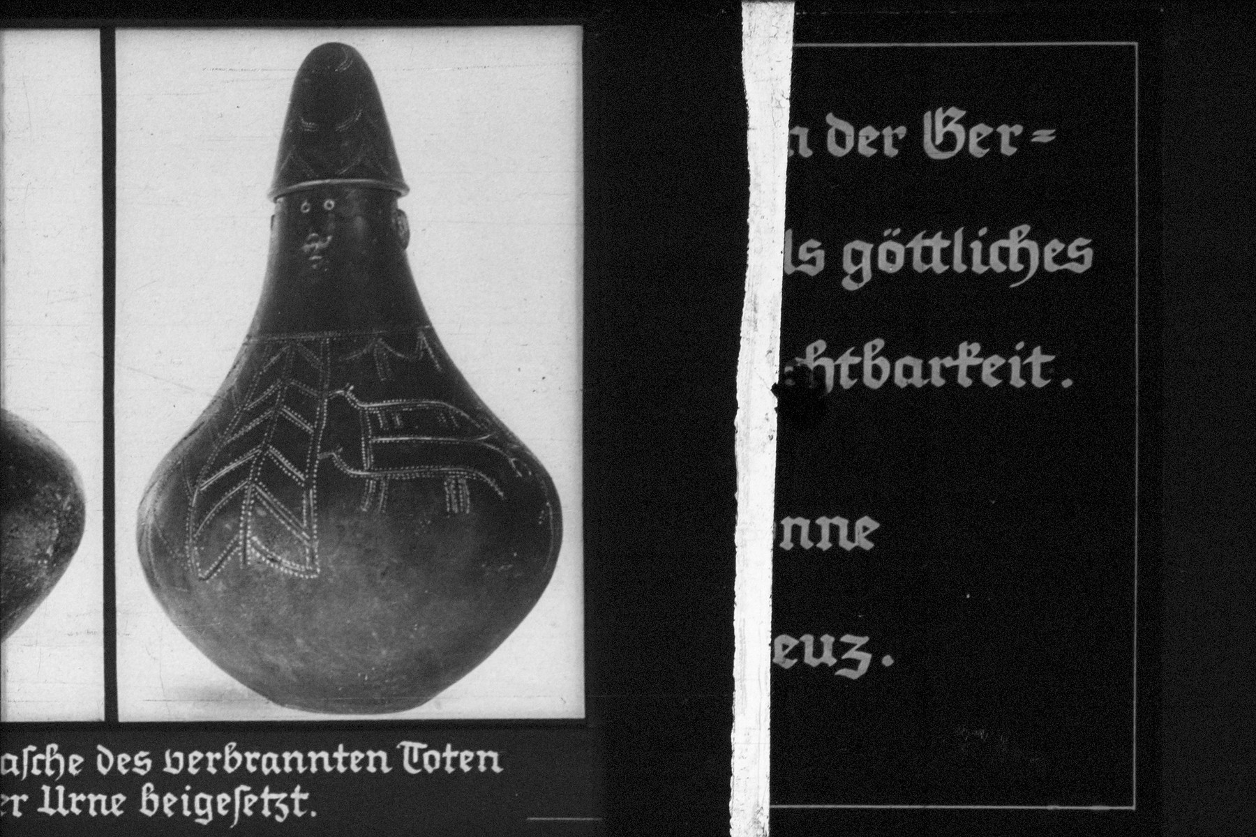 "22nd Nazi propaganda slide for a Hitler Youth educational presentation entitled ""5000 years of German Culture."""