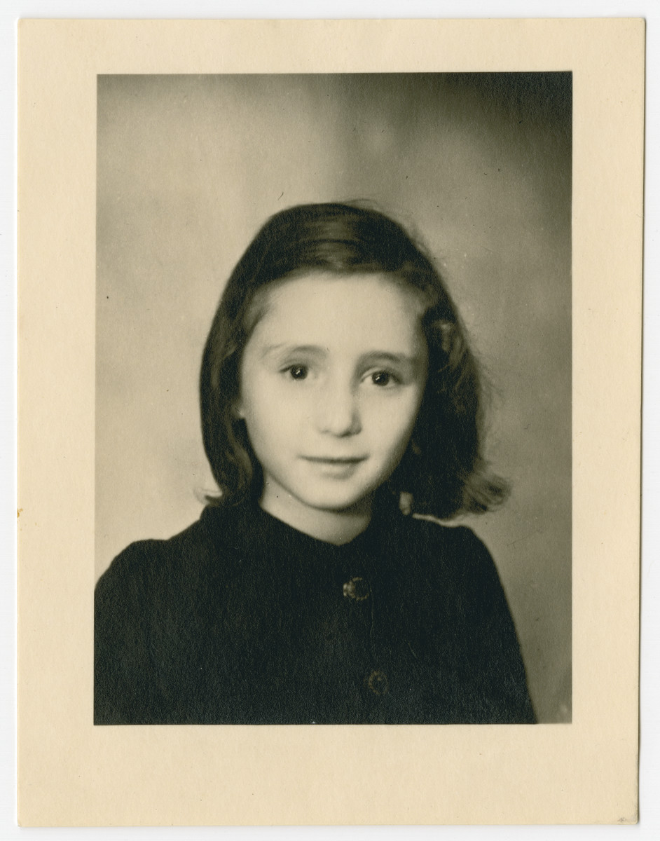 Studio portrait of Annette Fein (Karpik).  This may have served as her passport photo prior to immigrating to the United States.